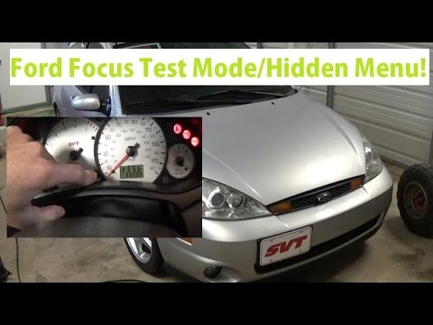 How to access hidden menu Ford Focus 1999-2007.Instrument cluster test mode, service menu!