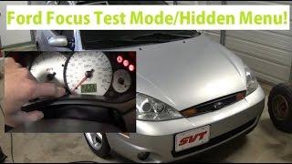 How to access hidden menu Ford Focus 1999-2007.Instrument cluster test mode, service menu!