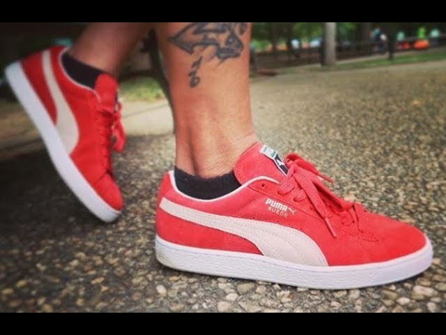 Puma Suede Shoes On Feet Review Sizing Youtube