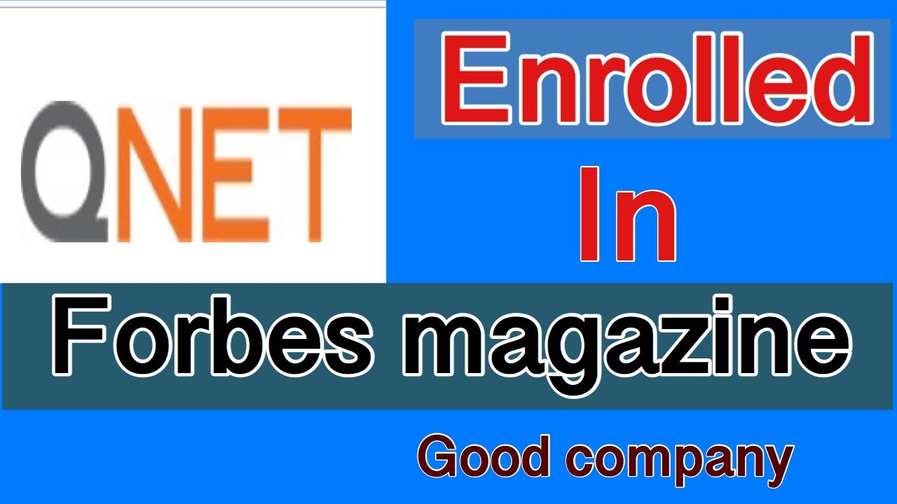 QNET enrolled in Forbes magzine