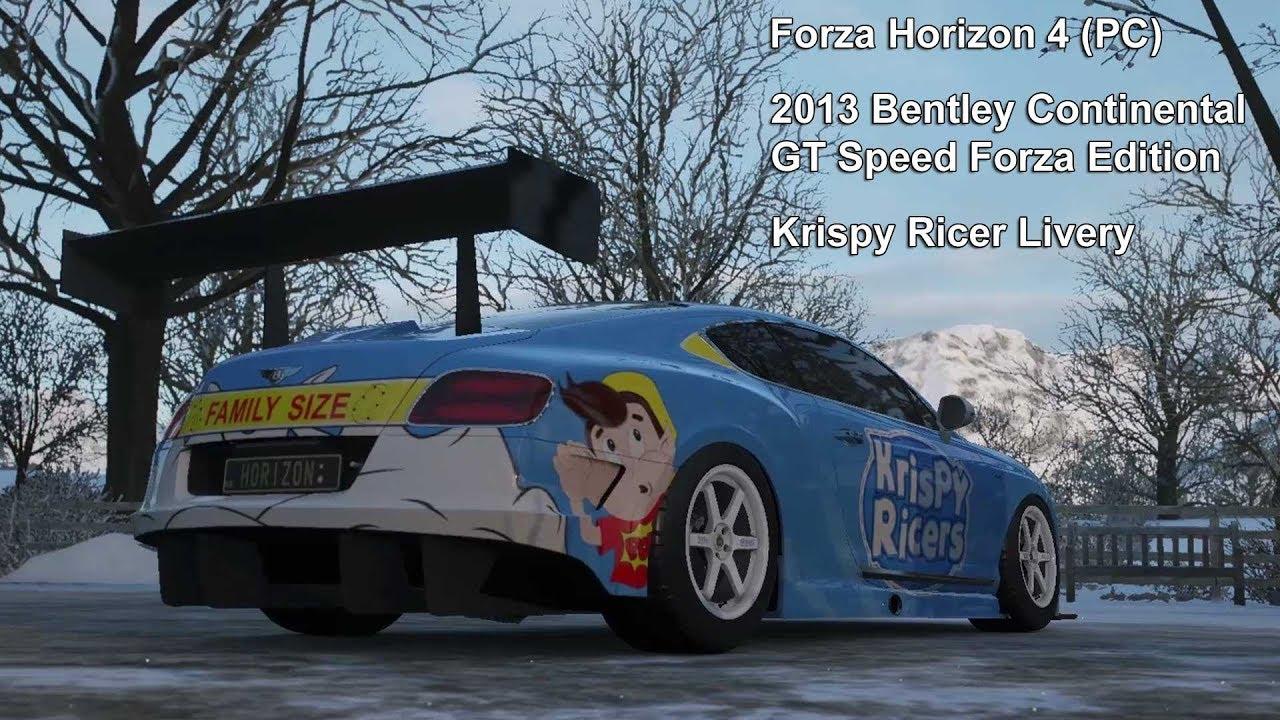Forza Horizon 4 Custom Livery Krispy Ricers Youtube