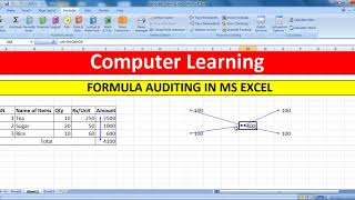 Formula Auditing Feature in Microsoft Excel