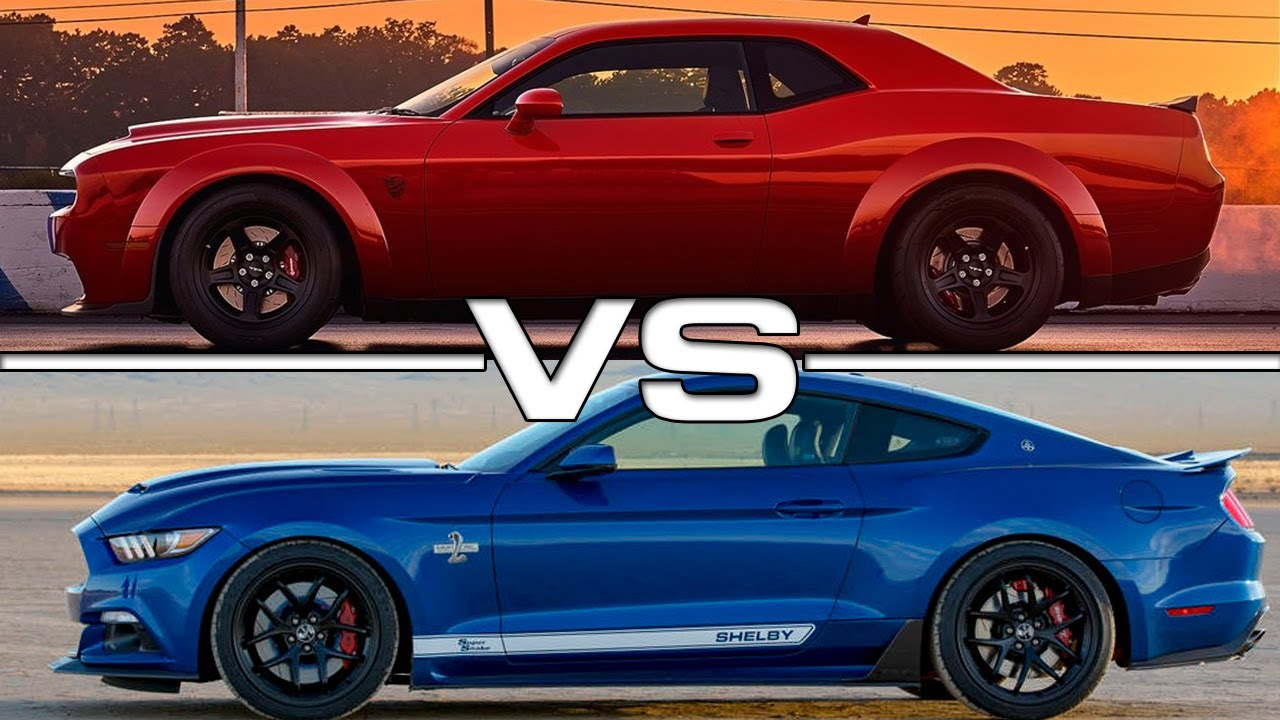 2018 Dodge Challenger Srt Demon Vs 2017 Ford Mustang