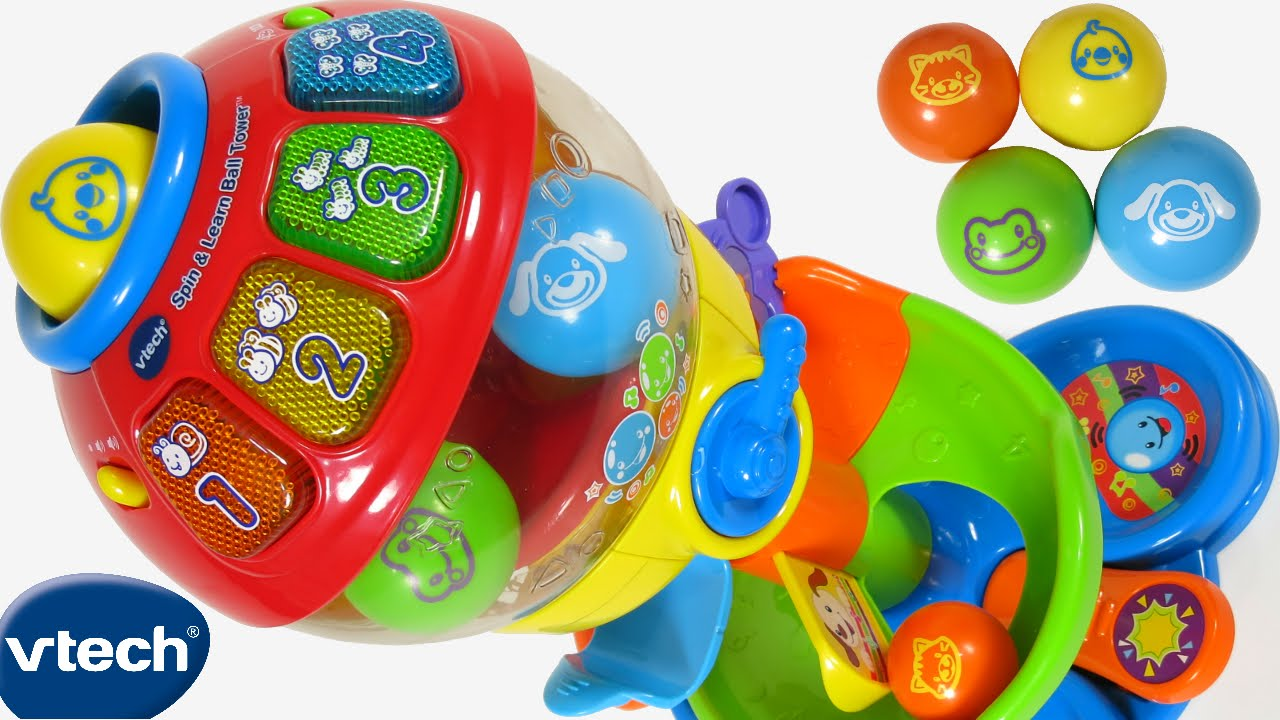 NEW VTECH BABY TODDLER SPIN & LEARN BALL TOWER TOY 100 ...