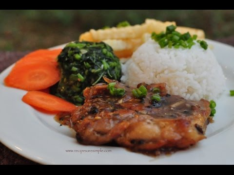 Asian Chicken Chops With Black Pepper Saucerecipesrsimple