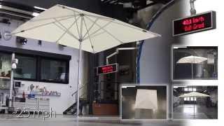 CARAVITA TestLab | Sonnenschirm Riviera 3x3m im Windkanal
