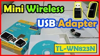 Wireless N USB Adapter TP-LINK (TL-WN823N) 300Mbps Mini | Unboxing & Review