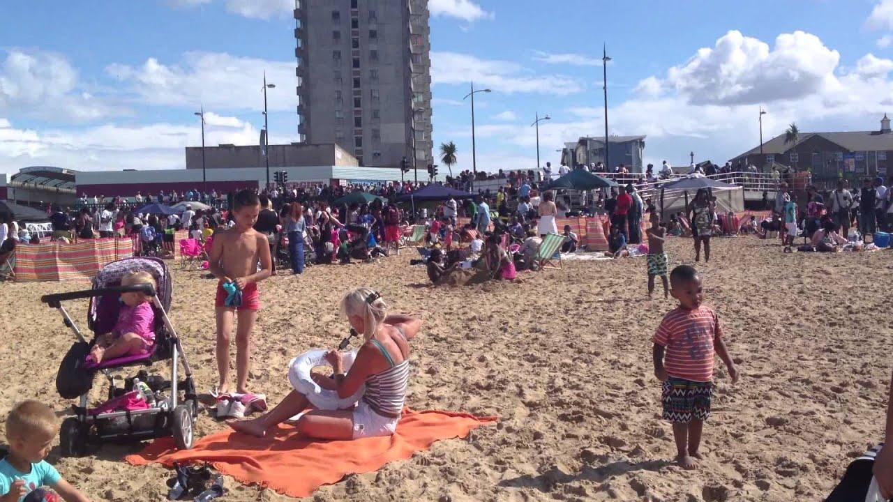 Beach party england margate kent youtube