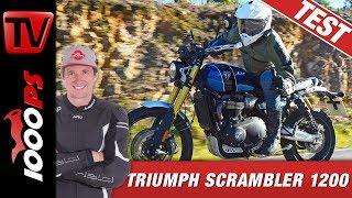 Triumph Scrambler 1200 XE und XC 2019 - Test in 4K - Sound, Preis, Offroad, Strasse