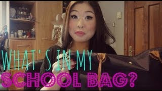 What's In My {Longchamp Le Pliage} School Bag? ♥ Thumbnail