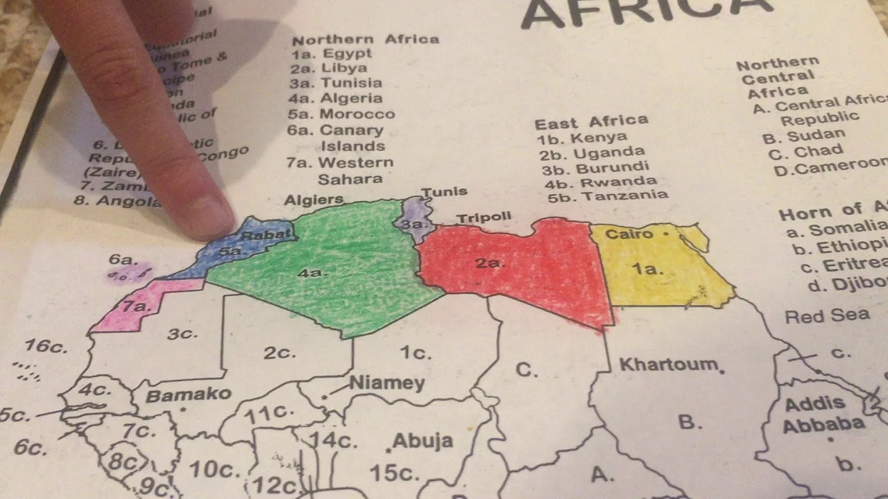 Map Of Africa Song.Northern Africa Geography Song