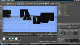 cinema 4d tutorial how to use fracture and random effector for text animation