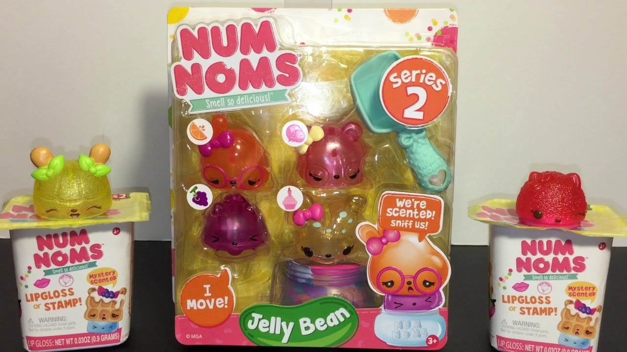 Num Noms Lip Gloss Series 2 Jelly Bean Scented 8-Pack Mystery