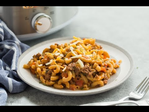 Slow Cooker Hamburger Helper Recipe