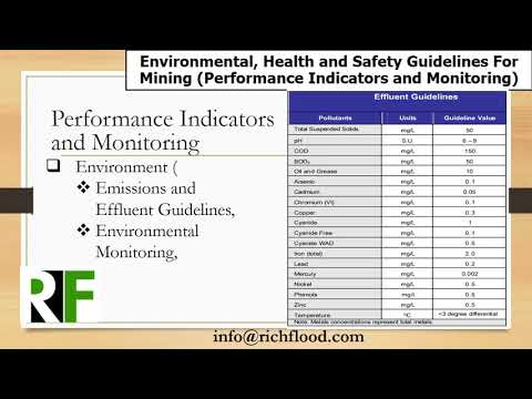 EHS Guidlines For Mining Industry Performance Indicators And Monitoring Module 40