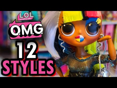 LOL Surprise OMG Doll 12 Amazing Different Looks | OMG Lights & More