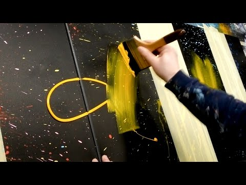 Acrylic Painting - Abstract Art Demonstration | Aeolus