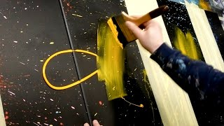 Acrylic Painting - Abstract Art Demonstration   Aeolus