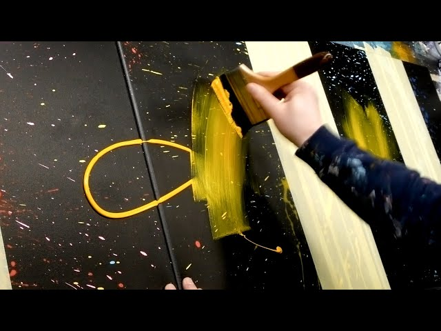 Acrylic Painting - Abstract Art Demonstration | Aeolus - YouTube