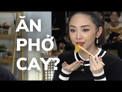 Phản ứng của Tóc Tiên khi ăn Phở Cay Hàn Quốc + Q&A | KTV V LIVE
