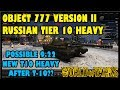 World Of Tanks 9.22 Update: Object 777 Version II | Possible Unannounced Heavy Following T-10?