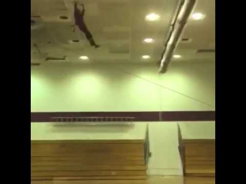 SOARIN, FLYIN! Kid hits ceiling with Bungee in Gym HILARIOUS VINE lmaojack COMEDY VINES 2015