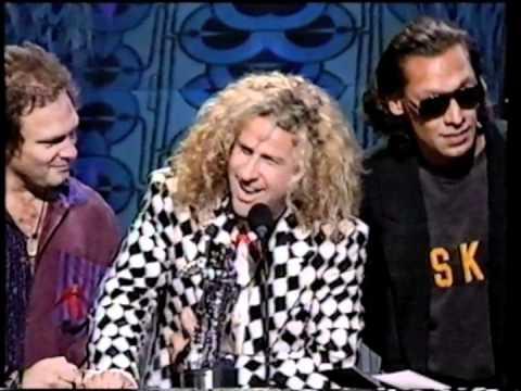 Van Halen  090992 MTV VMA  of the Year Acceptance Speech