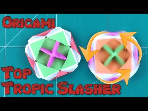 How to Make a Paper Spinner Battle Blade Tutorial | Origami Top Tropic Slasher l DIY Paper Spinning