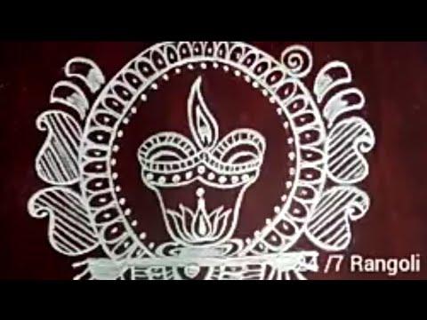 Diwali rangoli designs without dots #rangoli #kolam #muggulu #easyrangoli #howtodraw