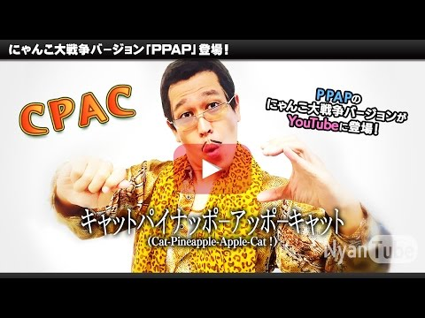 CPAC(Cat-Pineapple-Apple-Cat Official)キャットパイナッポーアッポーキャット/PIKOTARO(ピコ太郎) collabs with にゃんこ大戦争