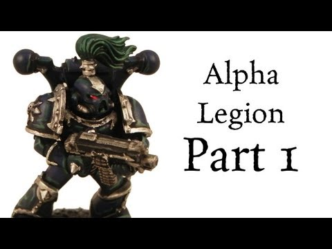 How to paint Alpha Legion Chaos Space Marines (Dark Scheme) pt.1