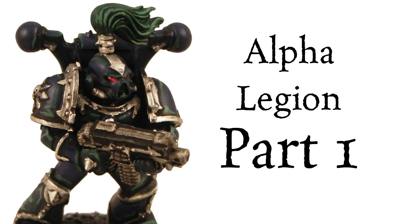 How to paint Alpha Legion Chaos Space Marines (Dark Scheme) pt.1 ...