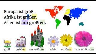 German Grammar: Komparativ & Superlativ TEIL 1 A2 || Einstein ist der intelligenteste Physiker