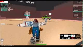 Roblox:Nba Hoopz Okc vs Clippers ep1