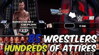 WWE 2K18 PSP, Android PPSSPP   Final Roster for v1 35   Releasing Soon by technical ramish