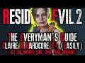 THE EVERYMAN'S GUIDE: Resident Evil 2 Remake HARDCORE S+ RANK Walkthrough | CLAIRE A UNLIMITED AMMO