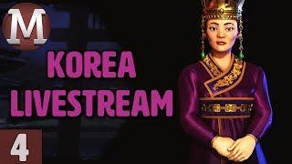 Video Civ 6 Rise and Fall - Let's Play Korea - Livestream Gameplay - Part 4 download MP3, 3GP, MP4, WEBM, AVI, FLV Maret 2018