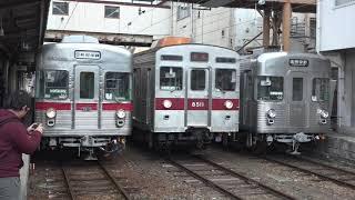 さよならイベント2日目の、長野電鉄3500系O2編成。(警笛あり)