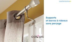 gamme de supports barre a rideaux sans percage 625252 castorama