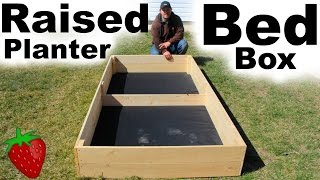 Planter Box | Making a Raised Bed Planter Box
