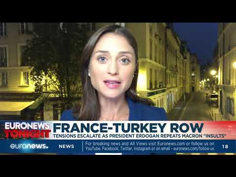 "France-Turkey row: Tensions escalate as President Erdogan repeats Macron ""insults"""
