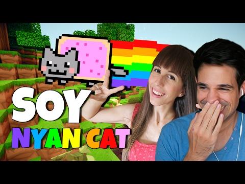 ME CONVIERTO EN NYAN CAT | Minecraft Lucky Blocks