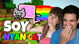 ME CONVIERTO EN NYAN CAT   Minecraft Lucky Blocks