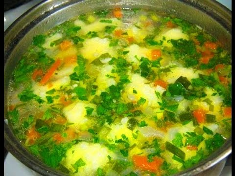 суп с галушками рецепт с фото пошагово с фрикадельками