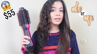 testing-revlon-one-step-hair-dryer-and-styler-on-curly-hair-honest-review