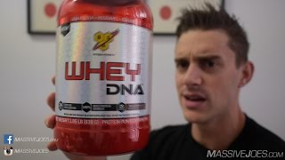 BSN Whey DNA Protein Powder Supplement Review - MassiveJoes.com Raw Review WPI WPC Isolate