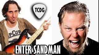 Aprender como tocar Enter Sandman (Metallica) en guitarra - acordes notas clases curso tutorial TCDG