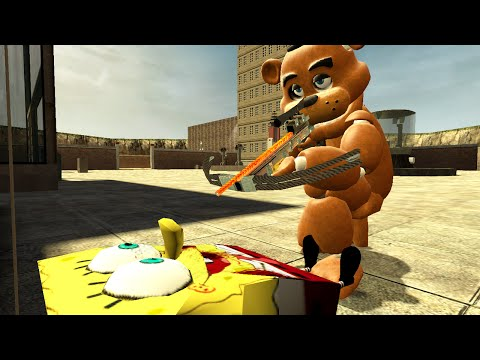 "Garry's Mod ""FREDDY FAZBEAR KILLS SPONGEBOB"" (Gmod Funny Moments, Gmod Sandbox)"