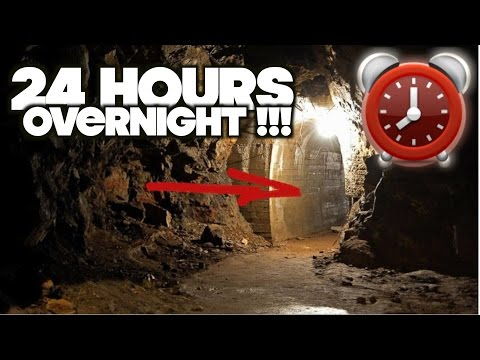 STAYING OVERNIGHT IN A HAUNTED CAVE! SCARY 24 HOUR OVERNIGHT CHALLENGE