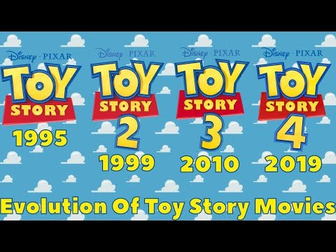 Evolution Of Toy Story Movies 1995 - 2019